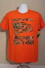 NEW Mens T Shirt Mossy Oak Large Orange Camo Flag Top Deer Hunting Graphic Tee