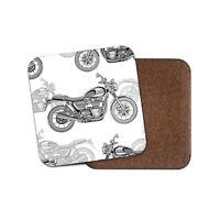 Retro Motorcycle Cork Backed Drinks Coaster - Bike Biker Motorbike #8187