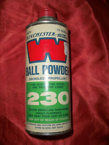 Vintage Winchester 230 Western Ball Powder Smokeless Propellant Empty Tin Can