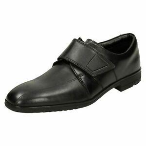 Niños Clarks Gancho y Lazo Zapatos de Escuela con Cierre willis time