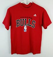 Chicago Bulls Adidas T Shirt Mens Size Small NBA Basketball Red Tee