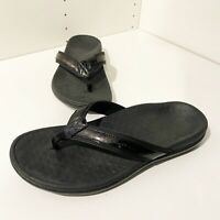 Vionic Tide II Orthaheel sz 8 Black Flip-Flop Sandal