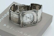 Silpada Sterling Silver Watch Hammered Square Link Bracelet T1372