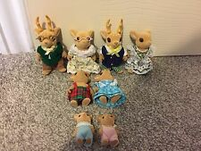 Sylvanian Families Moss Reindeer Deer Whole Family Grandparents And Babies