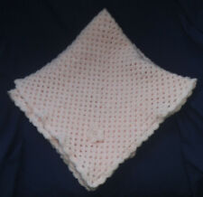 "BAXTER'S BABY BLANKET. Pink Handmade Crochet. Cot, Pram, Moses Basket. 25""x25""."
