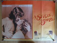 A STAR IS BORN (1976) - UK quad film/movie poster, Barbra Streisand, musical