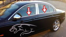 S.STEEL chrome windows frame trim cover 4 DOORS 4pcs FİTS FOR JAGUAR X-TYPE