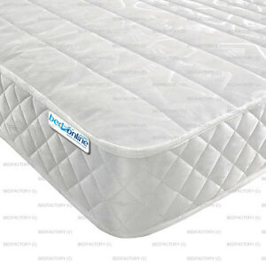 """MICRO QUILTED OPEN COIL 6"""" DEEP MATTRESS 4FT6  DOUBLE CHEAPEST MATTRESSES EVER"""