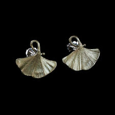 Michael Michaud - Ginkgo Post Earrings - Silver Seasons Jewelry - Ginko Leaf