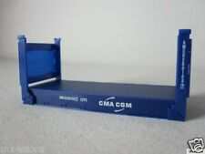 20ft Fuß Flatcontainer Container CMA / CGM Herpa 1:87 H0