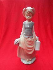 LLADRO Dutch Girl Carrying Two Milk Churns Rare Large Figurine