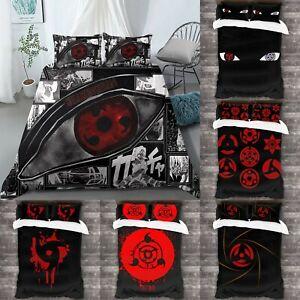 Naruto0 Sharingan 3Pcs Bedding Set Duvet Cover Pillowcases Twin Full Queen King