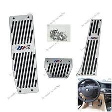 1X Car DIY BMW M E46 E90 E92 E87 AT Auto Automatic Aluminum Pedal Covers Pad Kit