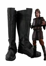 Star Wars Anakin Skywalker Cosplay Shoes Black Boots Custom Made