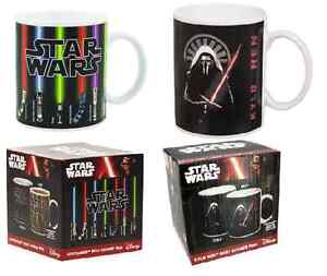 Star Wars Lightsaber /Kylo Ren Heat Change Changing Mug -The Force Awakens- New!