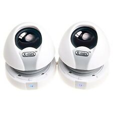 xmi X-Mini Max II 2 x Dual Capsule Portable Speakers iphone, ipad WHITE