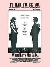 It Had to Be You from When Harry Met Sally Sheet Music Piano Vocal NEW 000321840