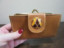 Lady's Artistic leather wallet, change purse. Roger Gimbel