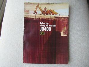 1967 John Deere JD400 tractor print AD brochure 4 pages