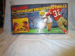 Vintage 1977 Mattel ABC Talking Monday Night Football Game Complete No. 3981