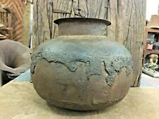 Antique old Vintage Rare Rustic Handmade Iron Water Big Pot Collectible