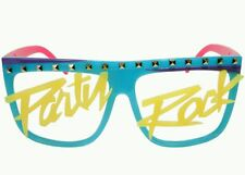 Studded LMFAO Party Rock Shades Sunglasses Blue Yellow Pink