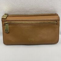 Fossil 2 Zipper Organizer Wallet Leather