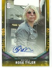 2018 Topps Doctor Who Billie Piper as Rose Auto Autograph Card Gold #ed 1 / 1