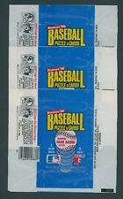 1986 DONRUSS BASEBALL WRAPPERS / LOT OF 3 - NO RIPS OR TEARS
