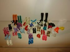 MATTEL LOT of mostly BARBIE DOLL SHOES, BOOTS and STOCKINGS - GOOD IN  BAG