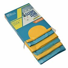 Brackit Premium Lightweight Disposable Yellow & Blue Coloured Dust Sheets - 6...
