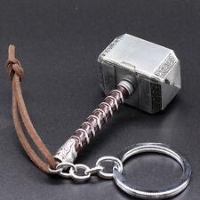 Marvel Avengers Thor Thor's Hammer Metal Keyring Keychain Silver popular