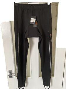 NEW MUDDYFOX Cycling Black Leggings Trousers With Padding & Stirrups Size L