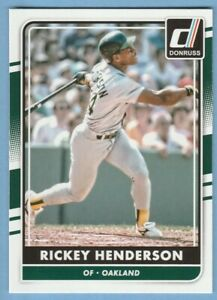 2016 Panini Donruss #184 Rickey Henderson Oakland A's Athletics