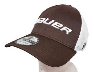 NEW ERA BAUER HOCKEY 39THIRTY ADULT HAT - STRETCH FIT BROWN SMALL MEDIUM 2014