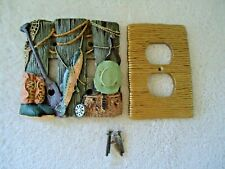 """Fishing Themed Ceramic Electrical Light Switch & Outlet Covers """" BEAUTIFUL SET """""""