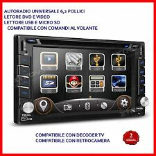 "AUTORADIO UNIVERSALE 6.2"" Touch - 2 din Navigatore /MP3/BLUETOOTH/GPS/DVD"