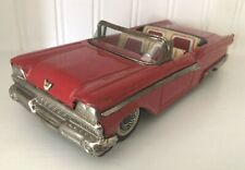 VINTAGE TIN TOY 1959 FORD CONVT. HAJI TOYS JAPAN-FRICTION-LITHO