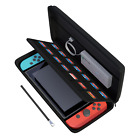 Nintendo Switch Hard Carrying Case/Cover with 14 Cartridge Holders (Black)