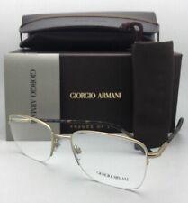 New GIORGIO ARMANI Eyeglasses AR 5031 3002 55-19 140 Matte Gold & Tortoise Frame