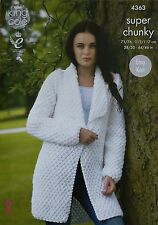 f9efafa6cca502 King Cole 4363 Knitting Pattern Jacket and Sweater in Big Value Super Chunky