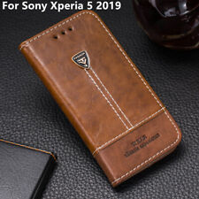 Luxury Premium Leather Flip Case 6.0'' Wallet Back Cover For Sony Xperia 5 2019