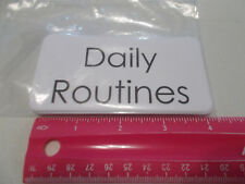 11 Laminated Daily Routines Flashcards.  Educational learning activity for sc