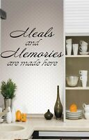 Meals and Memories are Made Here ...Decal Sticker Home Decor Family
