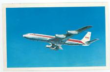 TWA Boeing 707 Postcard - Vintage Trans World Airlines 1960's Star Liner B707