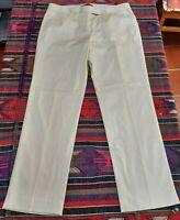 Lafayette 148 New York Women's Mid-Rise Straight Leg Dress Pants Beige Size 10