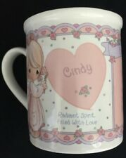 "Precious Moments Mug Godmother ""What's in a name ""Cindy�Nib Vintage 1994 Enesco"