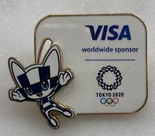 NEW RARE VISA SWIVEL MASCOT 2020 TOKYO OLYMPIC GAMES PIN