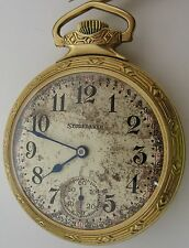 South Bend Studebaker Pocket watch 16s 21 jewels 8 adj. with GF case OF RR