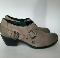 Born Booties Gray Distressed Leather Ankle Boots Women's Size 8